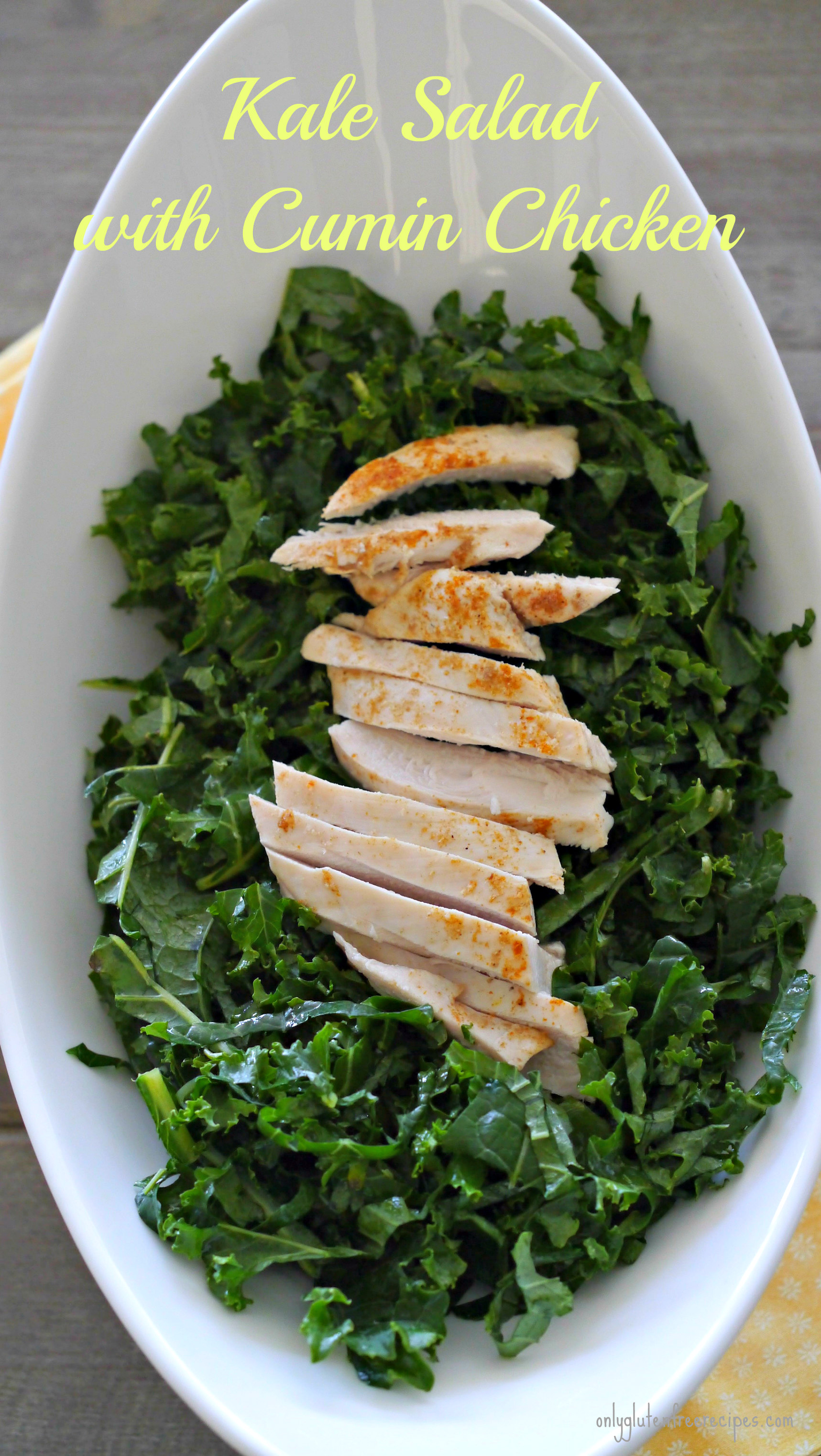 Kale Salad with Cumin Chicken for Weight Loss Diet