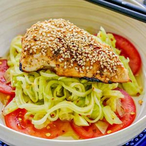 Sesame Chicken Sunomono Salad