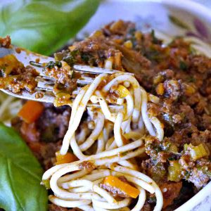 Gluten-Free Skinny Spaghetti Meat Sauce