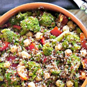 Broccoli and Chickpea Quinoa Salad