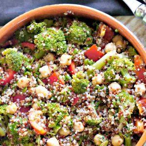Broccoli and Chickpea Quinoa Salad