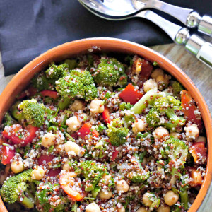 Broccoli, Quinoa and Chickpea Salad