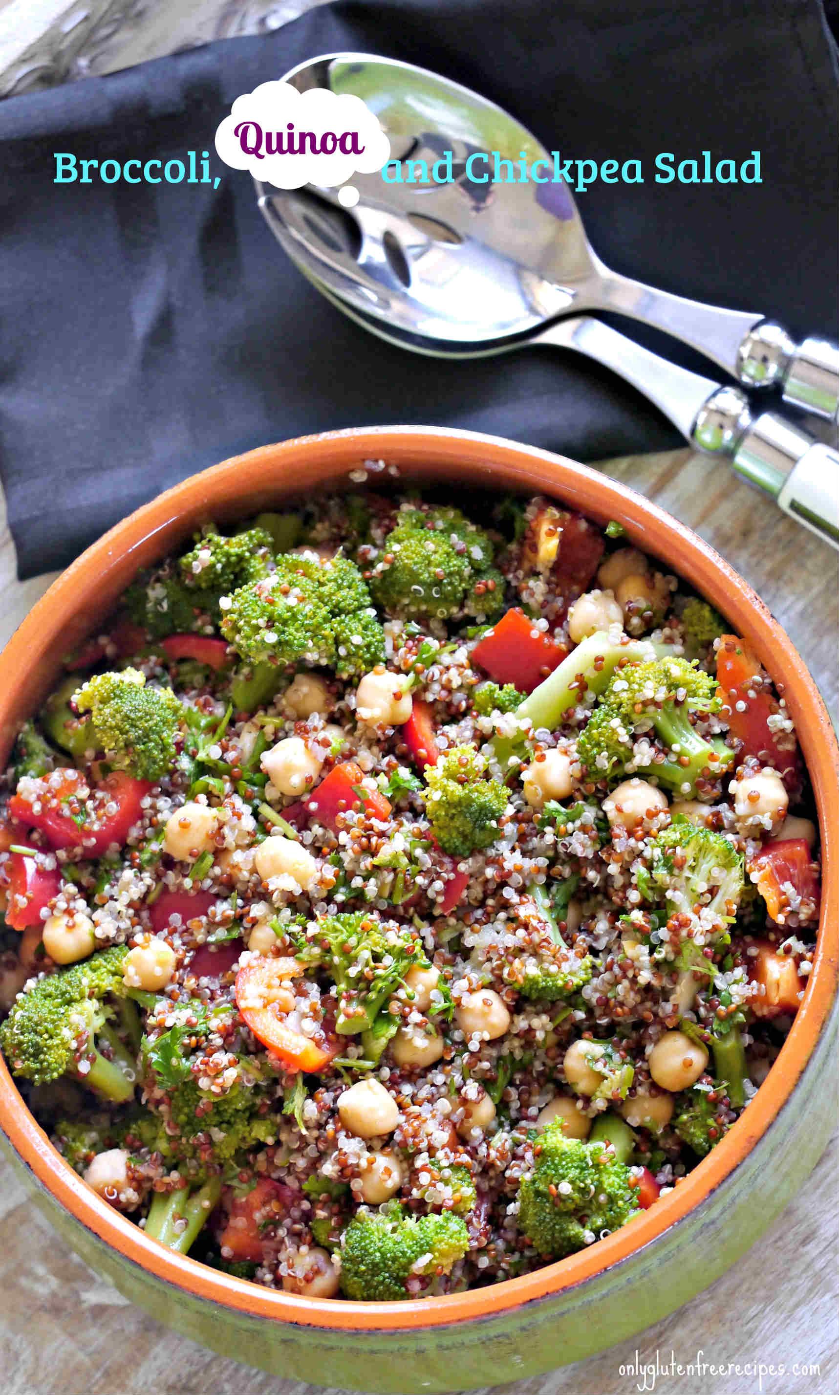 Broccoli, Quinoa and Chickpea Salad