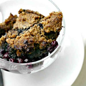Easy Gluten-Free Blueberry Cobbler