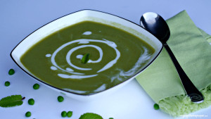 Gluten-Free Chilled Mint Green Pea Soup