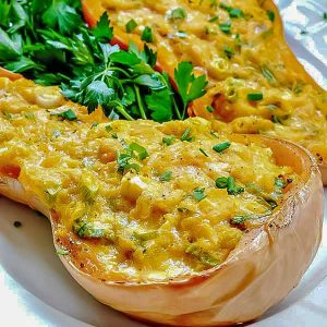4-Ingredient Double Stuffed Butternut Squash