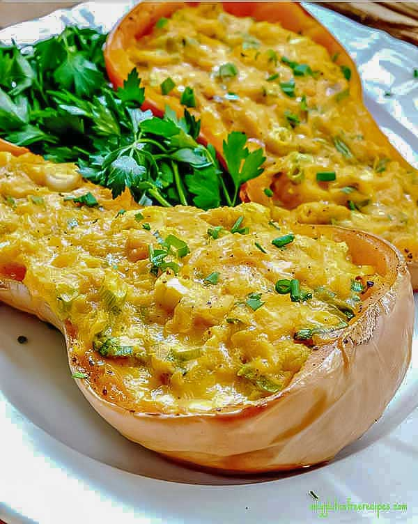 4 Ingredient Double Stuffed Butternut Squash Only Gluten Free Recipes