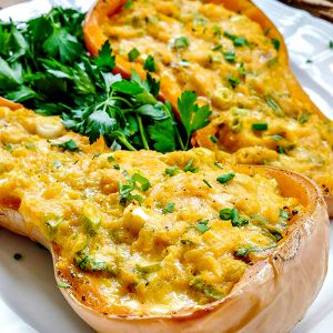Double Stuffed Butternut Squash