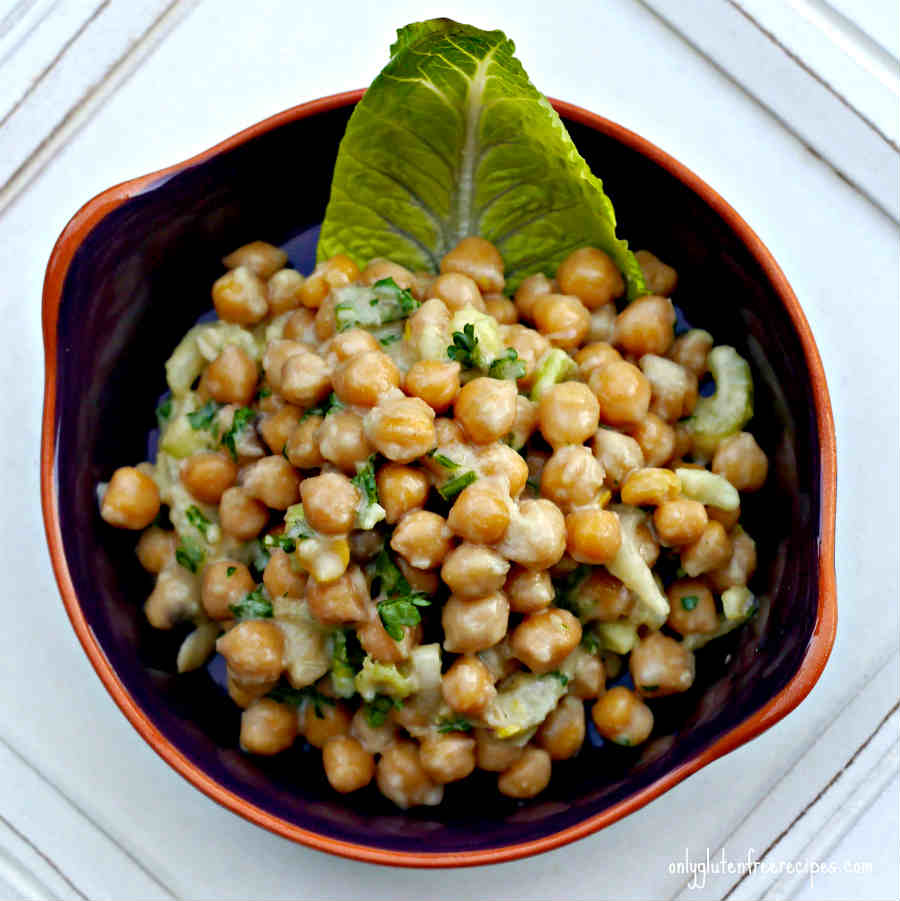 Chickpeas with Light Honey Mustard Dressing