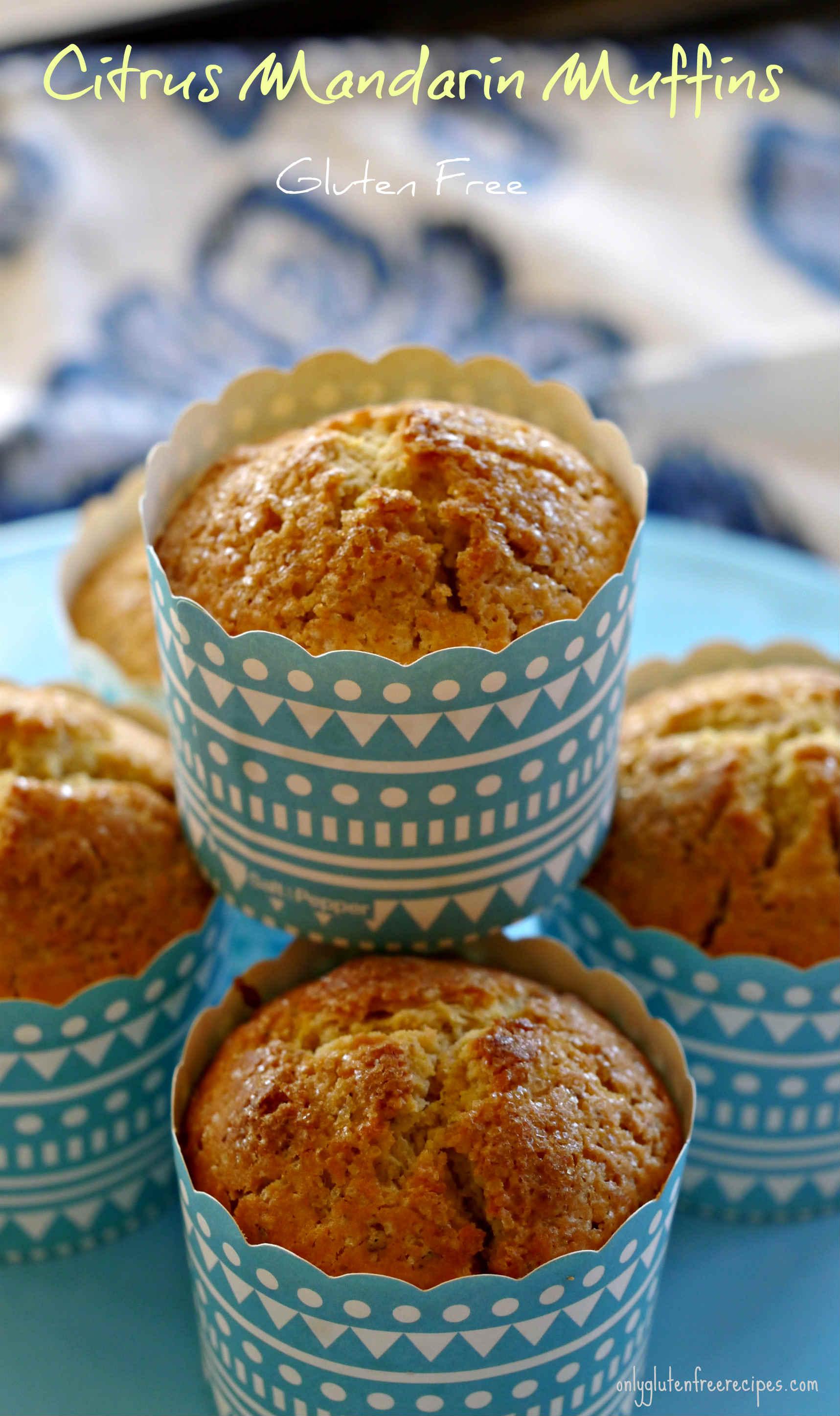 Gluten-Free Citrus Mandarin Muffins