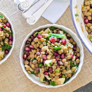 Lentil and Pomegranate Salad Recipe