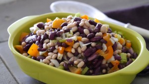 bean salad in light vinaigrette