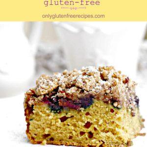 Gluten Free Apple Blueberry Crumb Cake