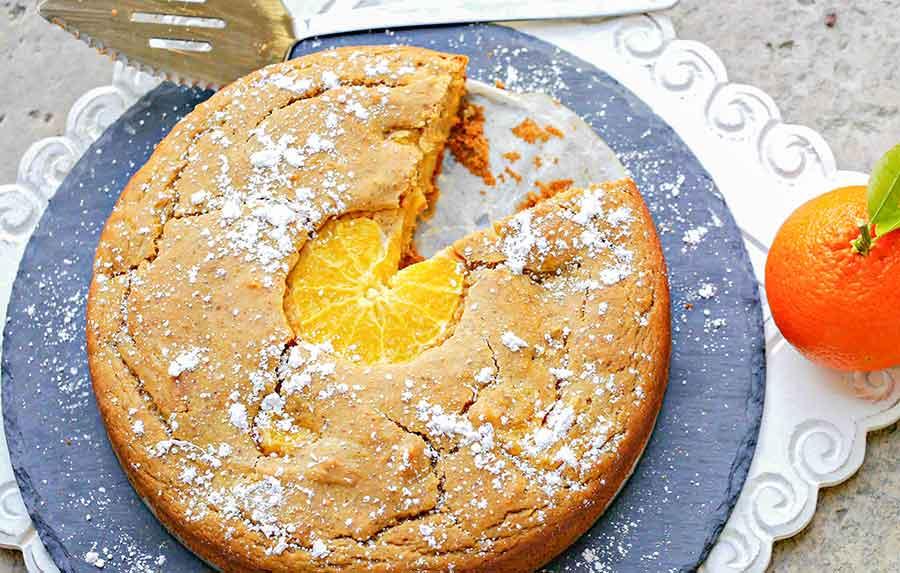 orange olive oil cake, gluten free