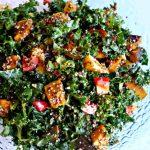 kale, kabocha, squash, quinoa, salad