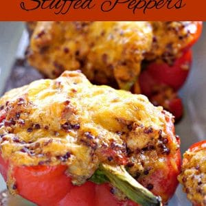 Cheesy Chicken Stuffed Peppers (Gluten-Free)