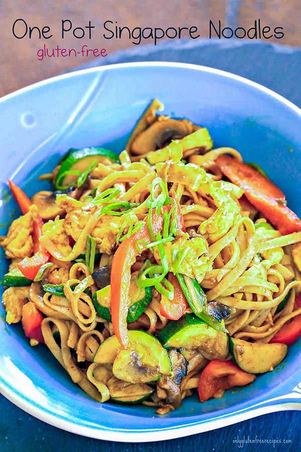 Gluten Free One Pot Singapore Noodles