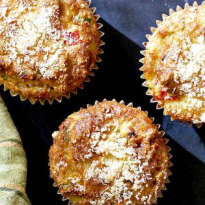 Gluten-Free Vegetarian Pizza Muffins