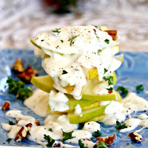 Simple Pear and Apple Feta Salad