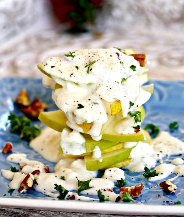 Simple Pear and Apple Feta Salad