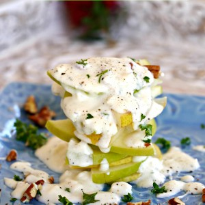 Pear and Apple Feta Salad
