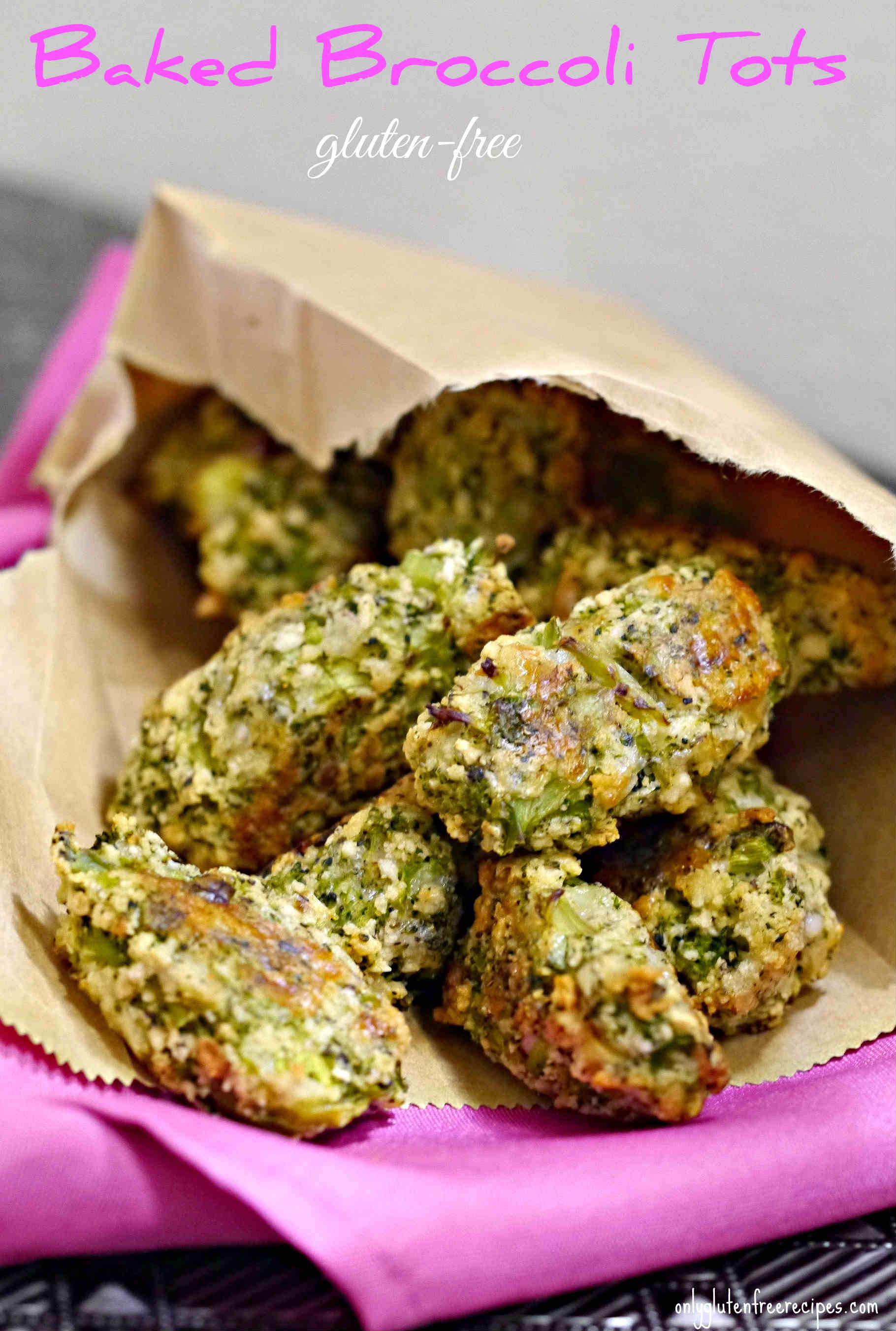 Gluten Free Baked Broccoli Tots