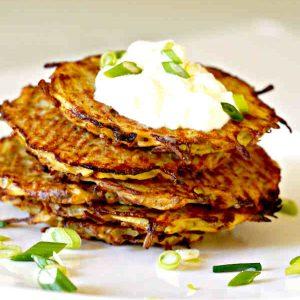 Easy Gluten-Free Baked Potato Pancakes