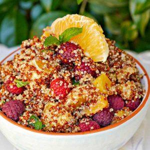 Orange and Raspberry Summer Quinoa Salad