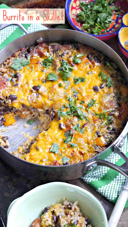 Gluten Free Burrito in a Skillet