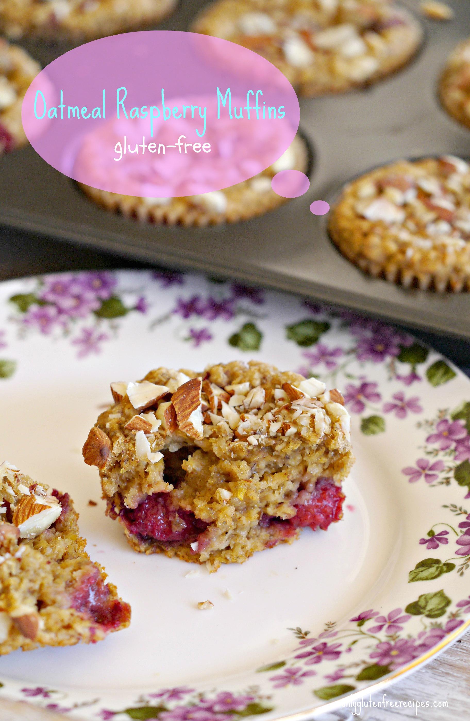 Gluten Free Oatmeal Raspberry Muffins
