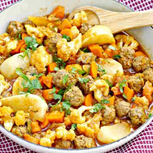 Cauliflower and Meatballs Ragout