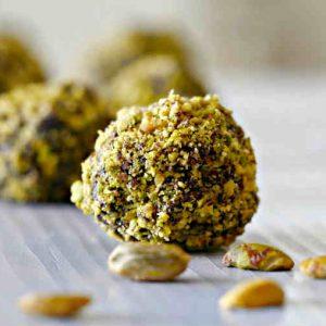 Paleo Chocolate Pistachio Balls