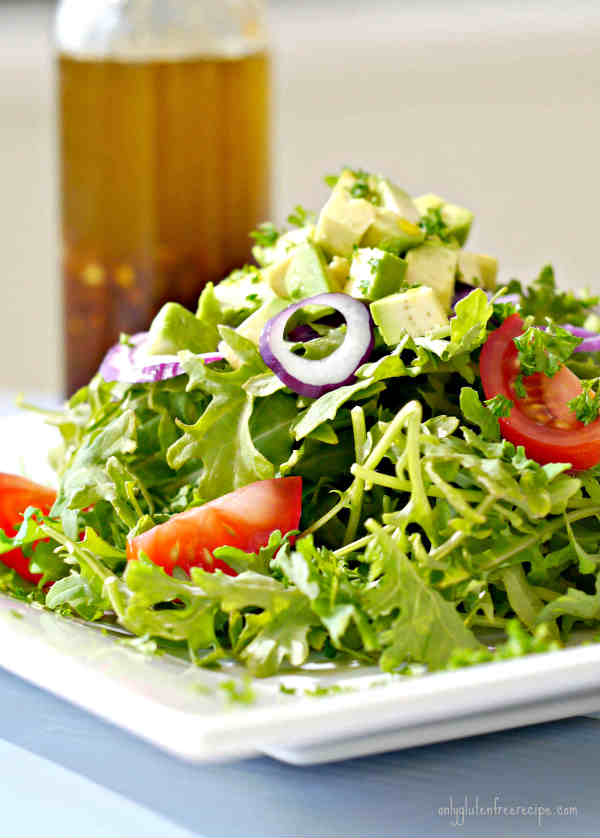 Kale Salad with Ginger Salad Dressing