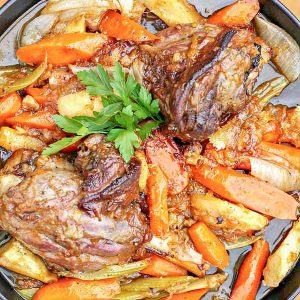 Lamb Shanks with Honey Glaze