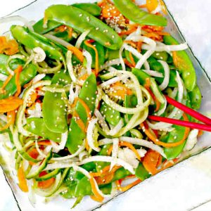 Snow Pea Salad with Vanilla Vinaigrette