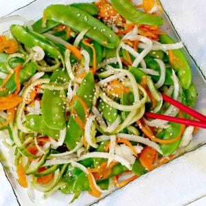 Snow Pea Salad with Vanilla Vinaigrette