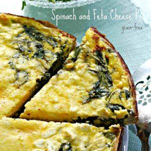 Grain-Free Spinach and Feta Cheese Pie