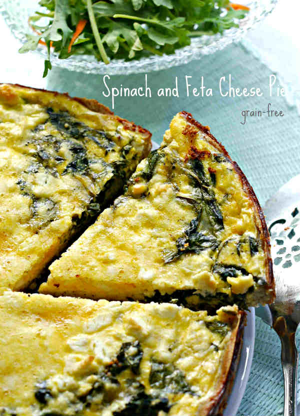 Grain-Free Spinach and Feta Cheese Pie