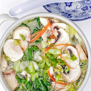 Vegetables and Clear Broth Hot Pot