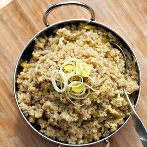 Coconut and Leek Quinoa Recipe