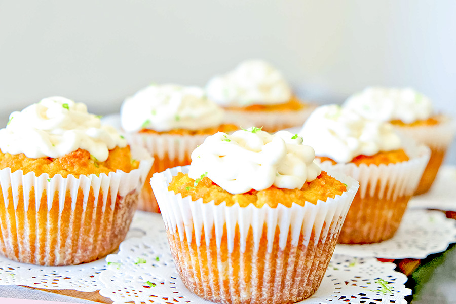 Gluten Free Coconut Key Lime Cupcakes