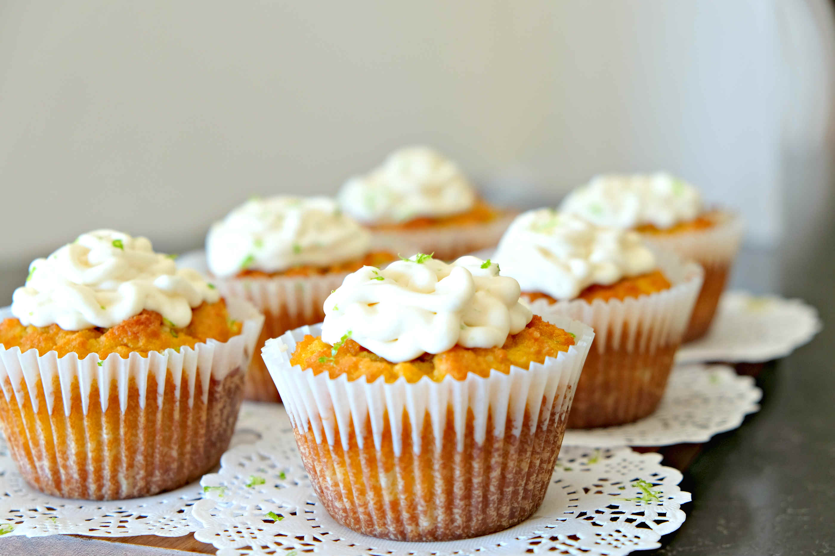 Gluten Free Coconut Key Lime Cupcakes - Only Gluten Free Recipes