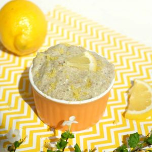 Gluten Free Lemon Cream Chia Pudding