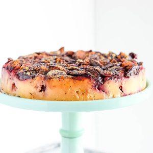 Gluten Free Upside Down Plum Cake