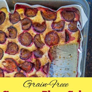 Grain-Free Summer Plum Cake