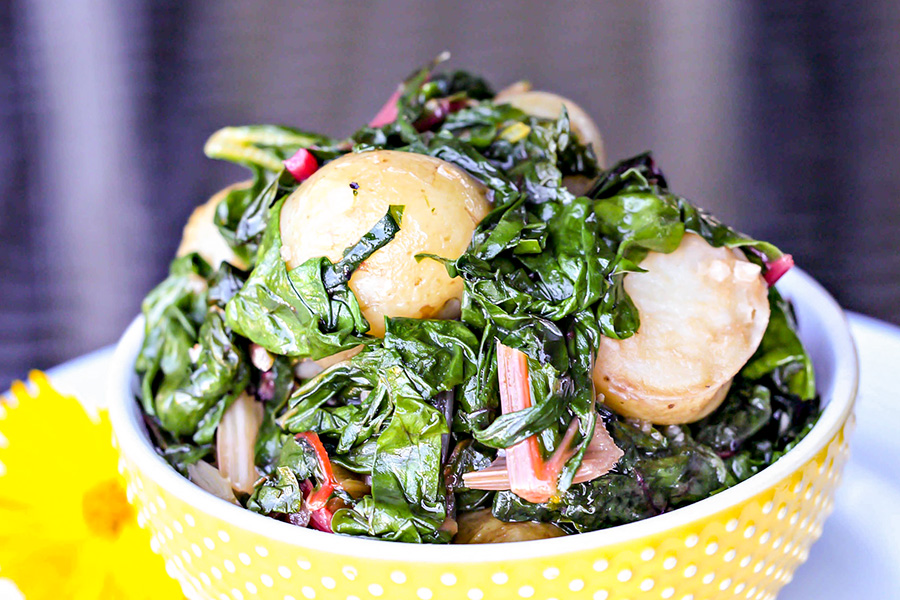 Swiss Chard and Potatoes