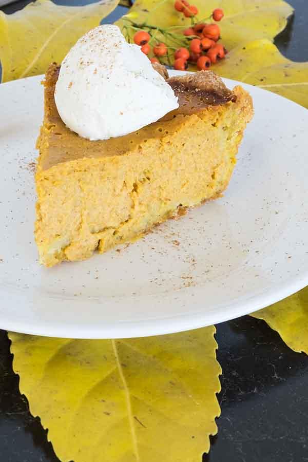 Gluten-Free Pumpkin Pie with Walnut Crust