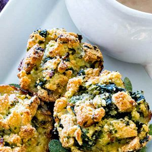 Gluten Free Apple Spinach Stuffing Muffins