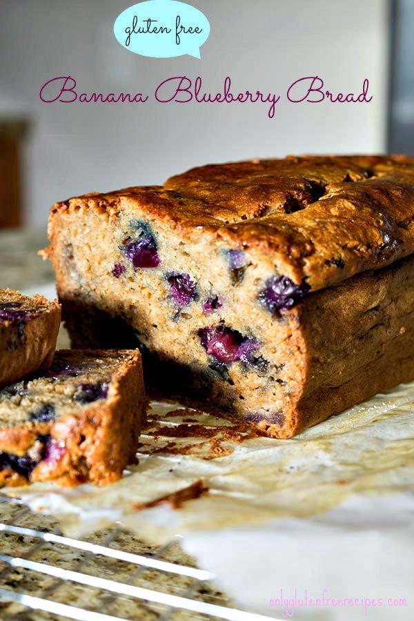 Gluten Free Blueberry Banana Bread