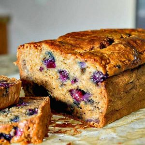 Gluten-Free Blueberry Banana Bread